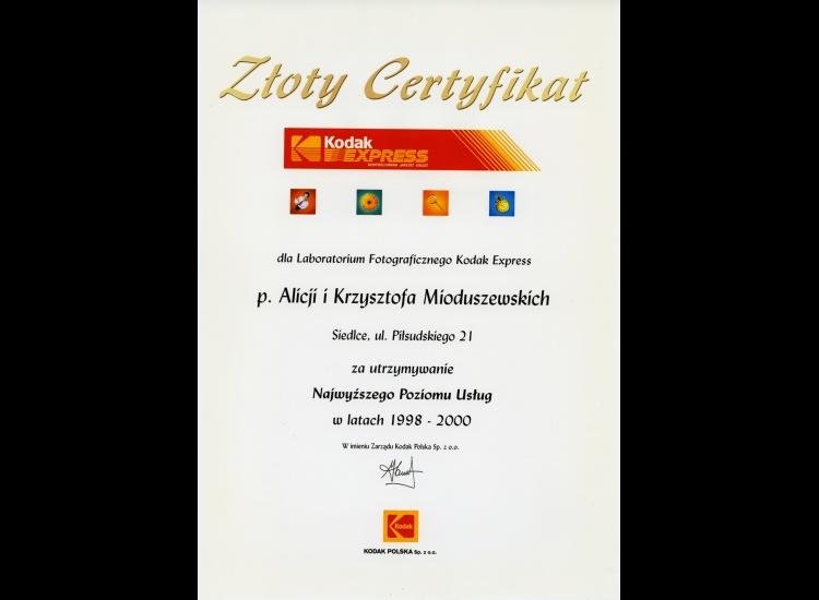 Złoty Certyfikat 1998-2000