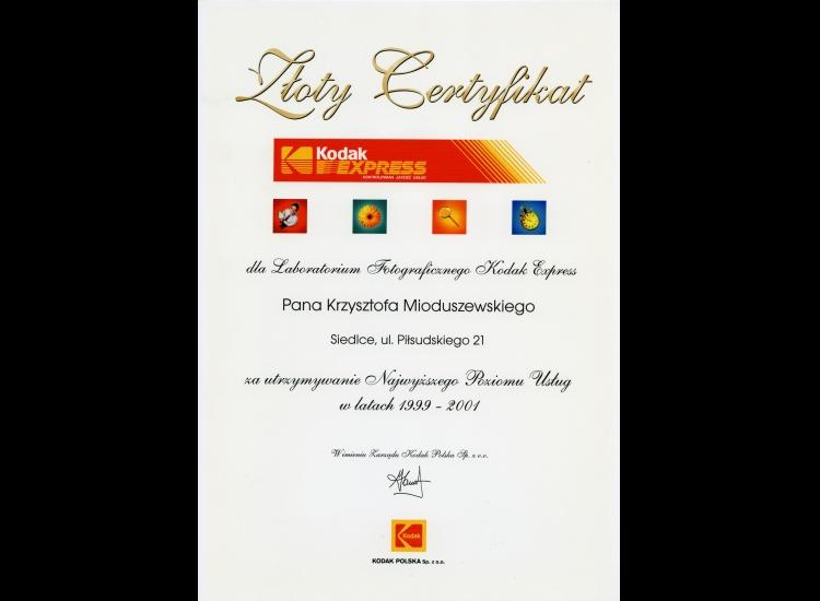 Złoty Certyfikat 1999-2001